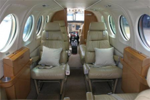 King Air 100 Interior.