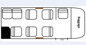 King Air 100 Floor Plan