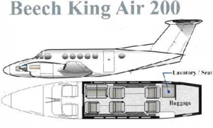King Air 200 Floor Plan