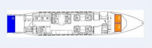 Falcon 900 Floor Plan
