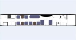 Gulfstream G400 Floor Plan