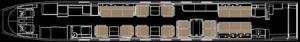 Gulfstream G500 Floor Plan