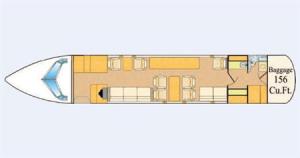Gulfstream II Floor Plan