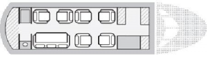 Falcon 50 Floor Plan