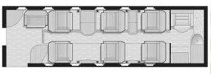 Gulfstream G100 Floor Plan