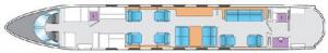 Gulfstream G550 Floor Plan
