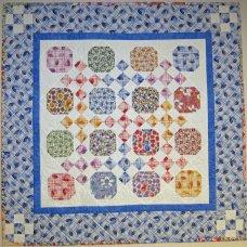 Multicolored quilt design