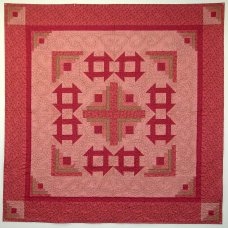 Red quilt design