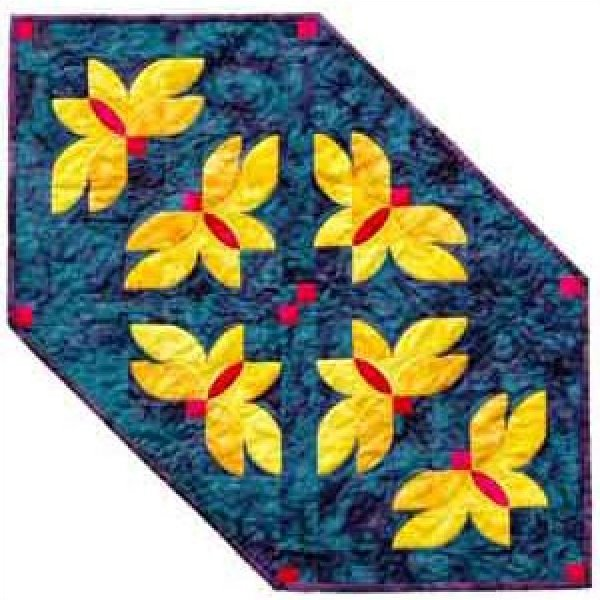 Midnight Flowers Table Runner