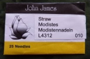 John James #10 Straw needles /QTY 25