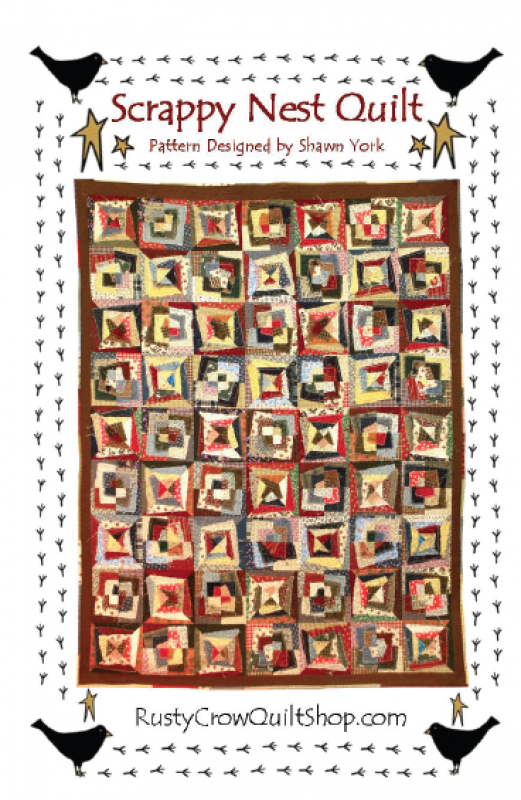 Scrappy Nest Quilt Pattern by Rusty Crow Quilts