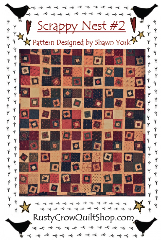 Scrappy Nest #2 Quilt Pattern by Rusty Crow Ouilts