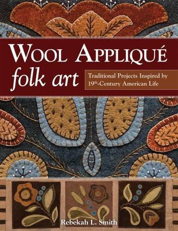 Wool applique folk art by Rebekah Smith
