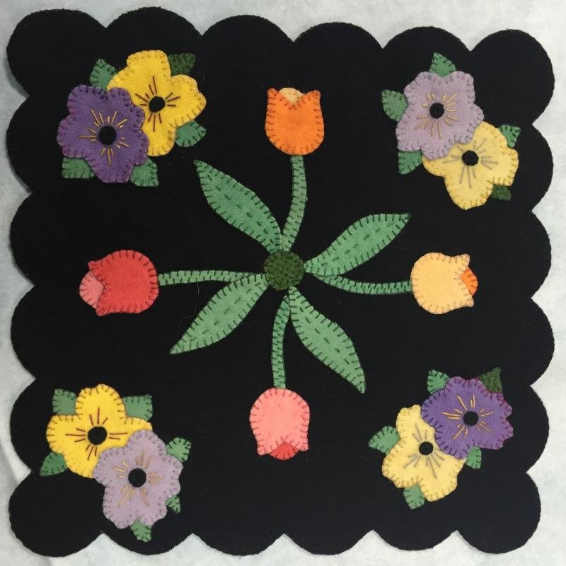 Spring has arrived wool mat