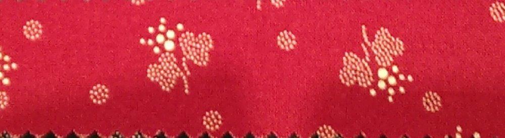 Chintz red flowers