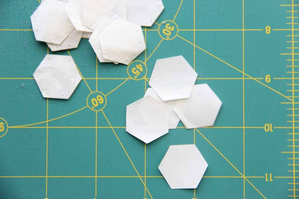 7/8 hexagon papers - large pack