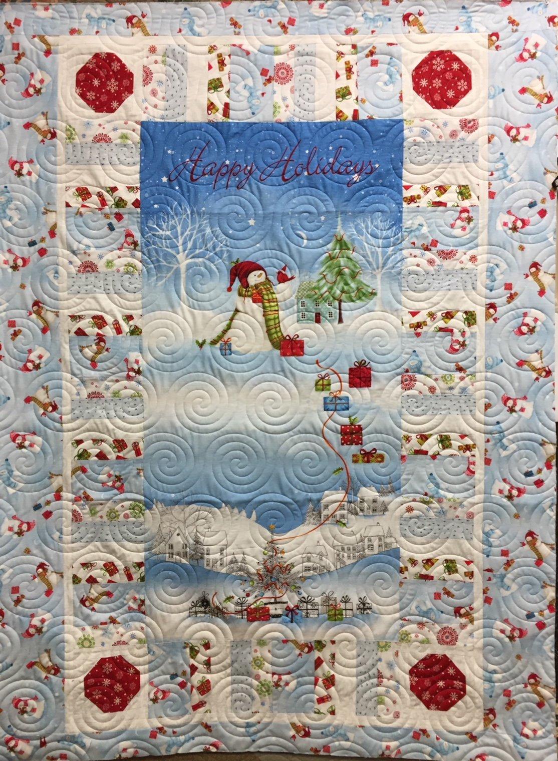 Snowman quilt kit