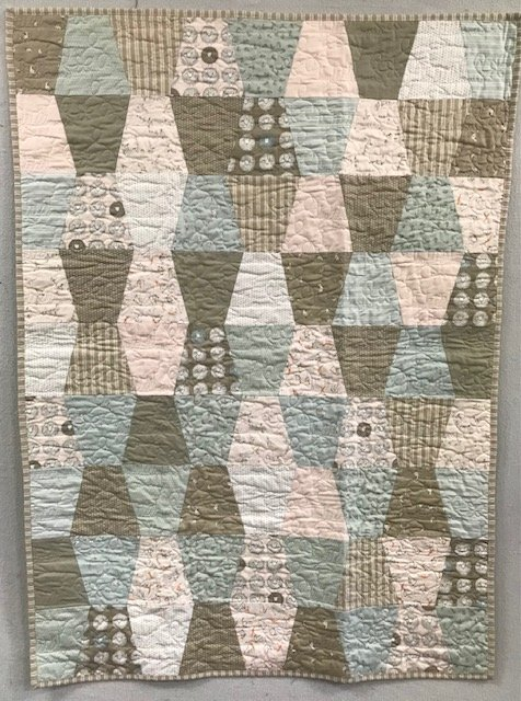 Lamb, Bees and Ducklings Baby Quilt