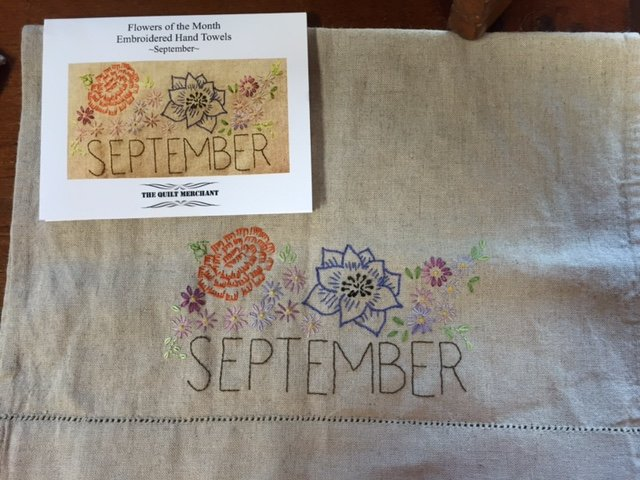 September Embroidery Towel