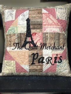 Paris Pillow Kit (pattern separate)