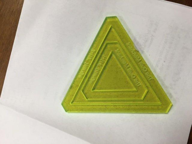 Triangle set 1.25 + 2.5 window with 1/4seam allowance
