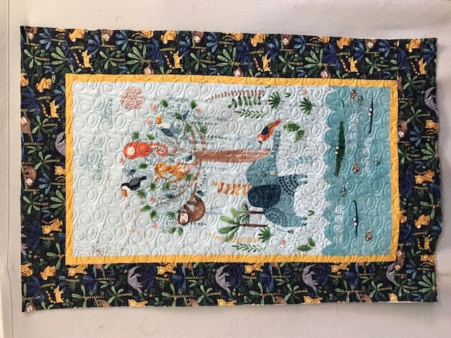 Jungle Fever baby quilt