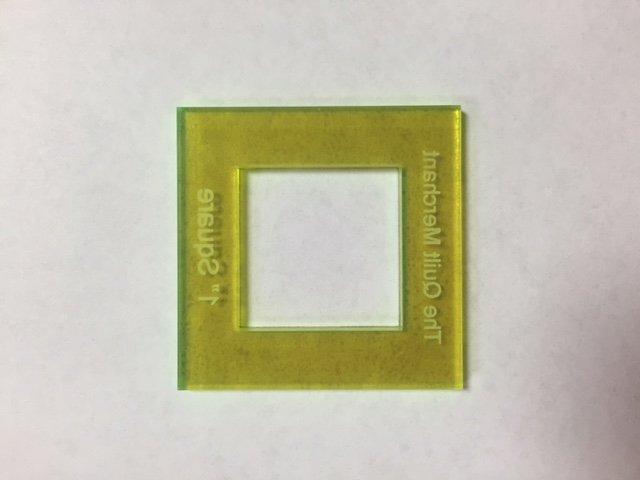 1 inch square Acrylic window template