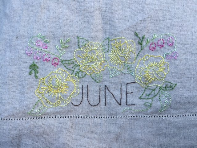 June Embroidery Towel