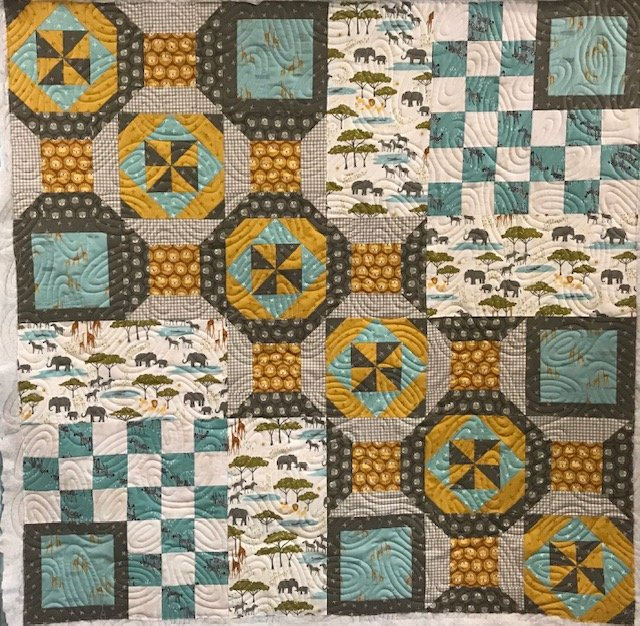 Safari Quilt kit with pattern