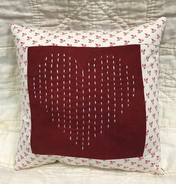 Heart Sashiko Pillow