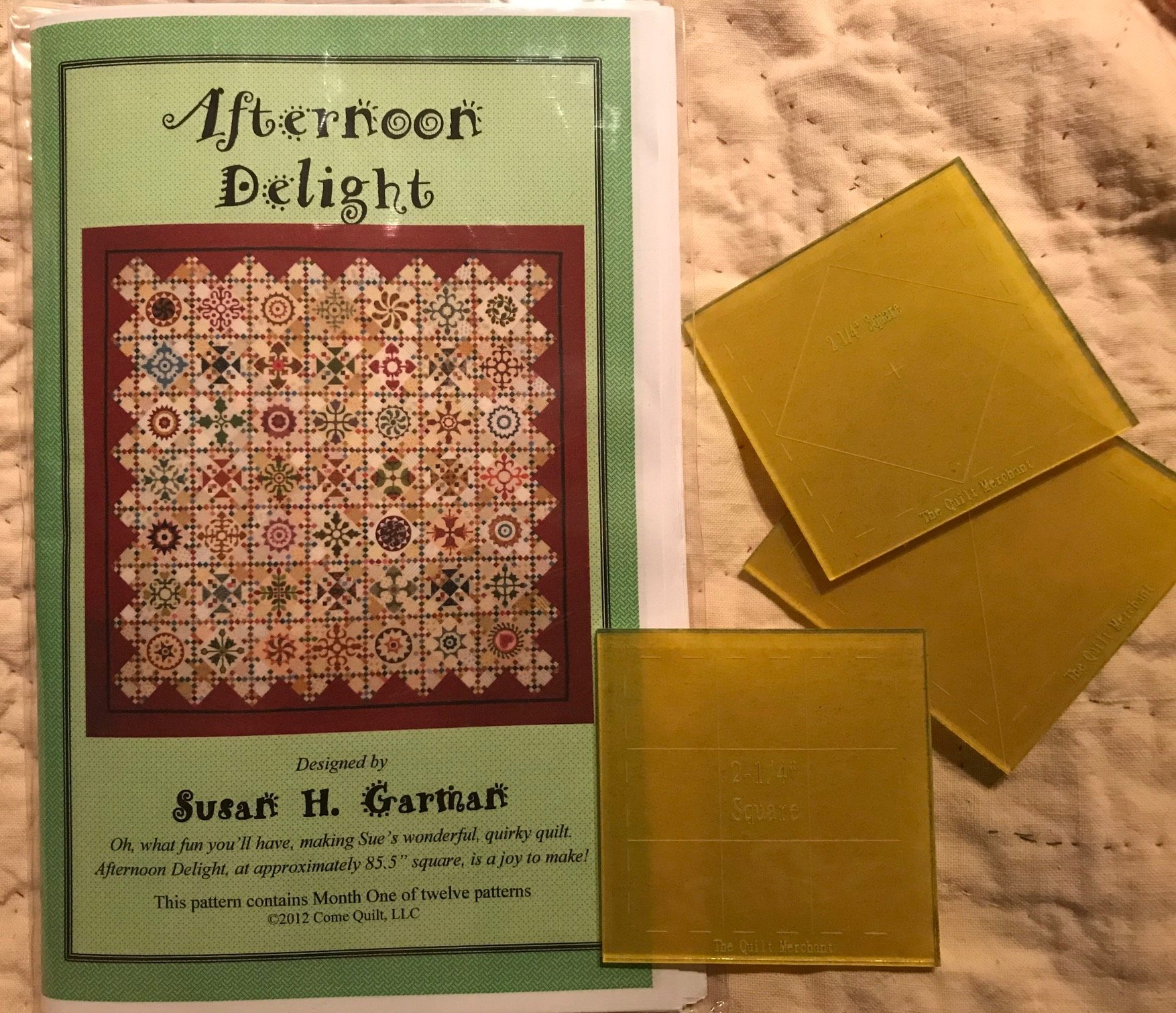 Template set for Afternoon Delight quilt