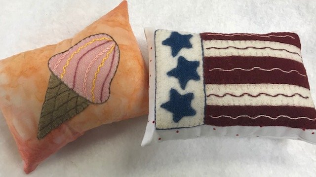 Flag and Ice Cream Cone Bowl fillers