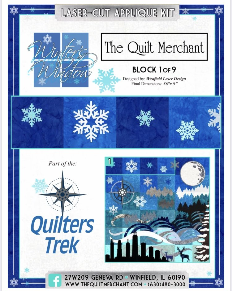 Chicago Quilters Trek 2020 - Winter's Window - Block #1