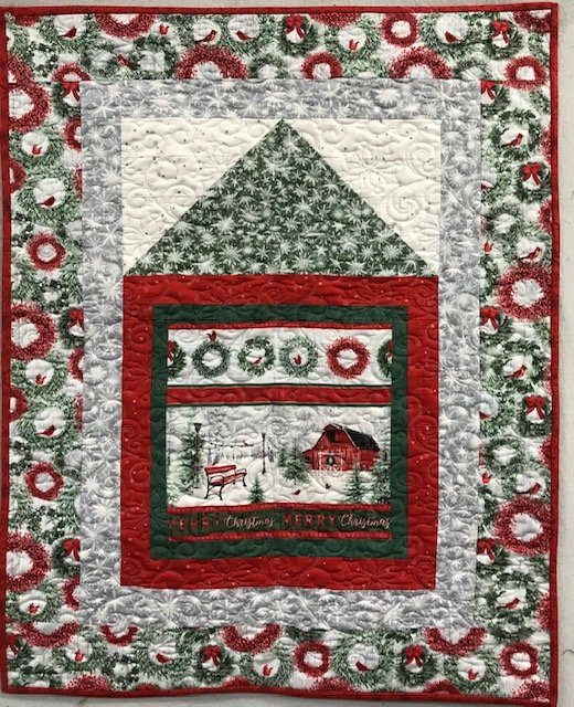 Merry Christmas Barn Wall Hanging kit