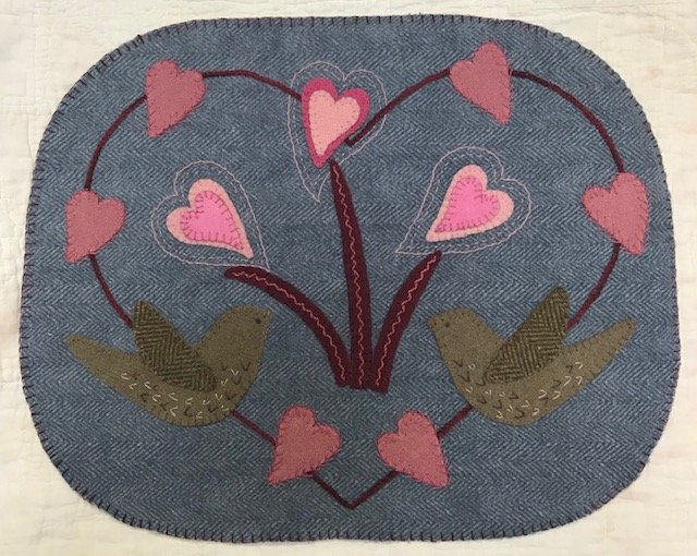 Little Tweetheart wool mat