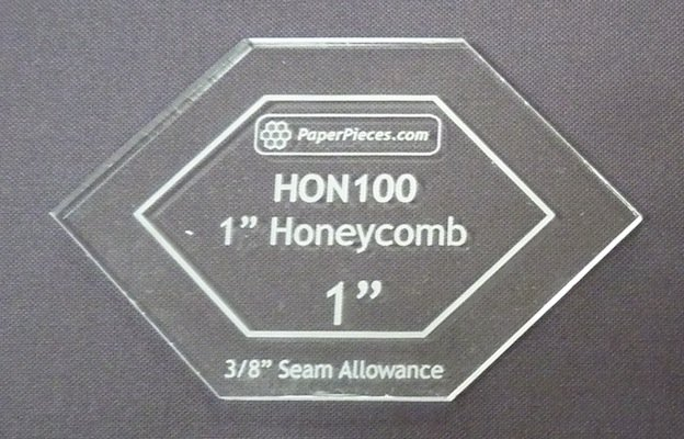 A - 1 inch Honeycomb Acrylic Template