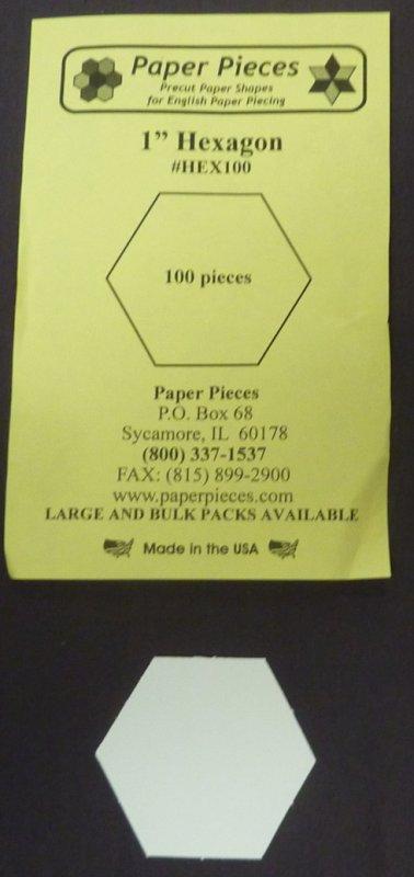 1 inch Hexagon papers