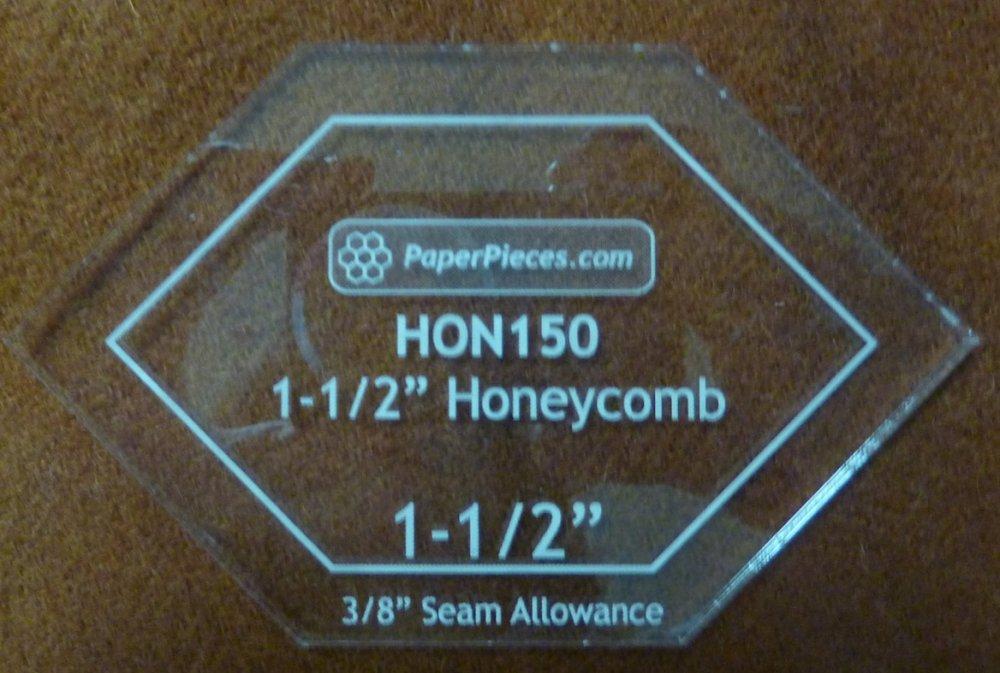 F -  1.5  inch  Honeycomb Acrylic Template