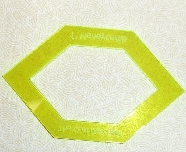 A - 1 inch  honeycomb window template perfect for Lucy Boston