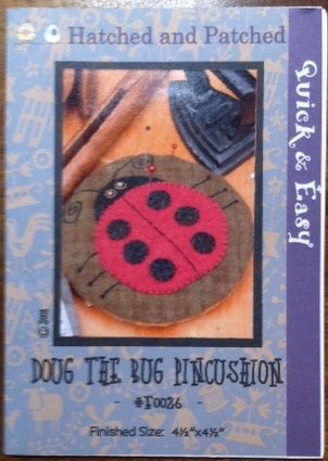 Doug the Bug Pincushion by Hatched and Patched