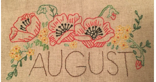 August Embroidery Towel