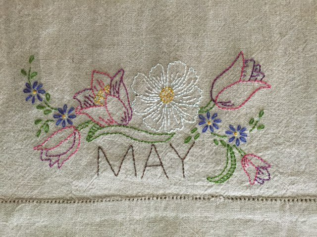 May Embroidery Towel pattern