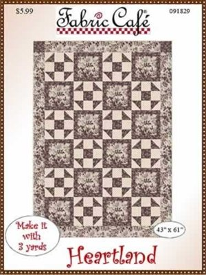 Fabric Cafe Heartland Quilt Pattern (3 yards)