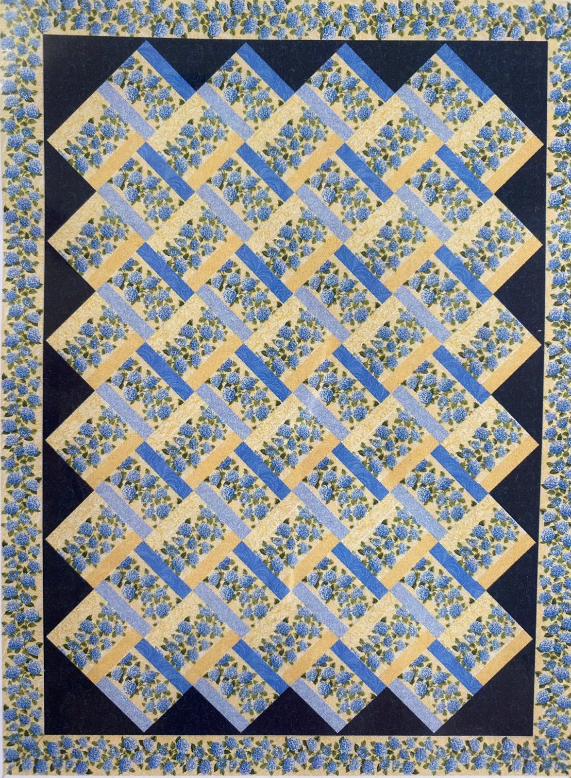 Woven Garden Kit Blue and Yellow Floral (Twin)