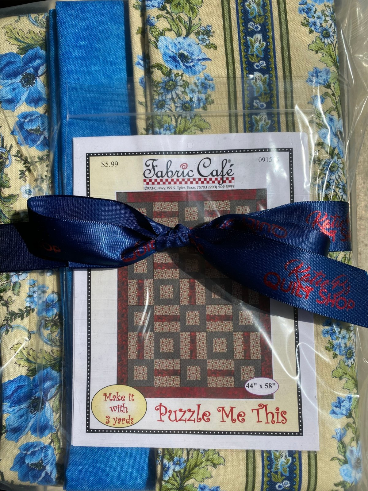 Gabrielle Puzzle Me This Kit (Includes Binding fabric) 46x58