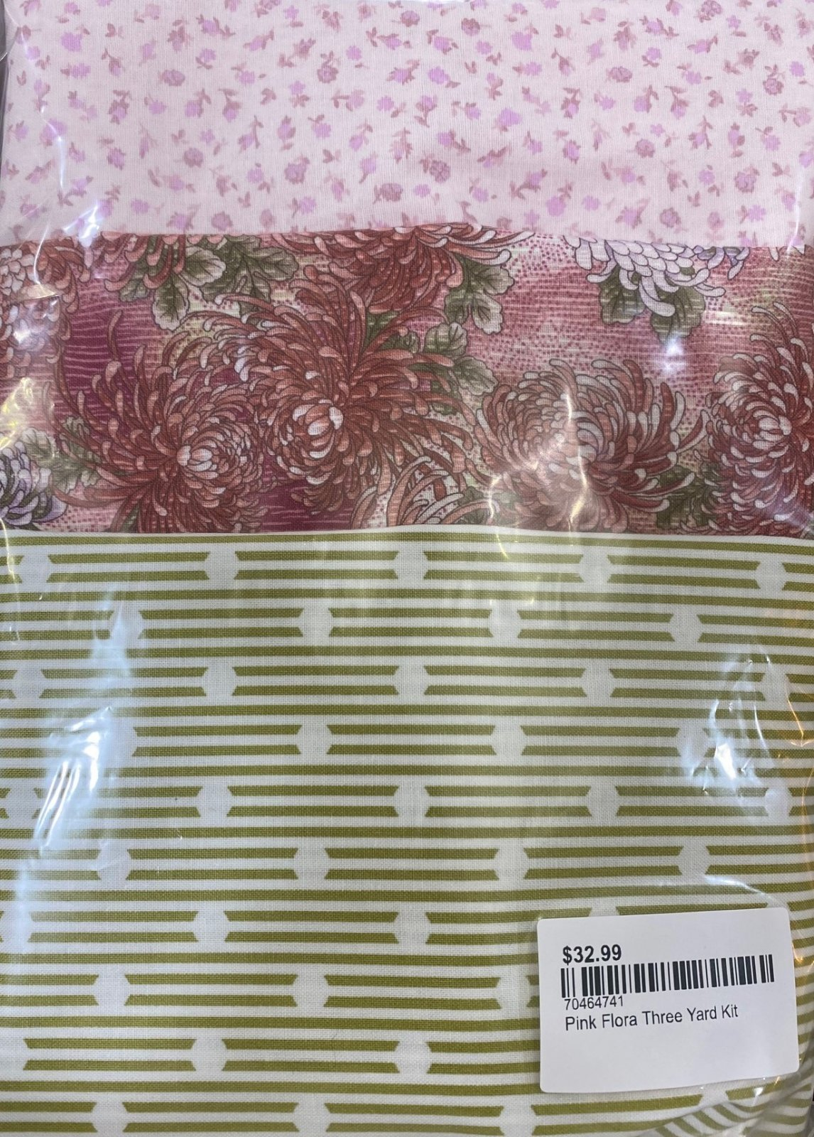 Pink Floral Three Yard Kit