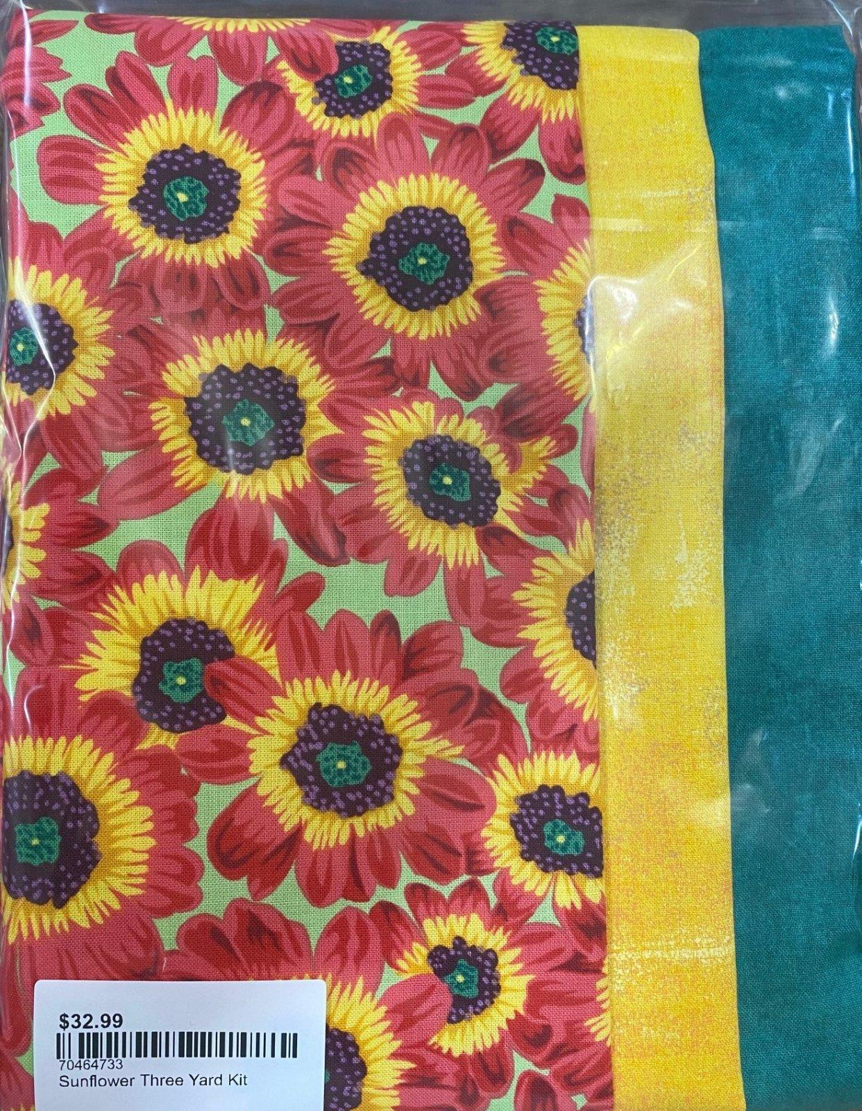 Sunflower Three Yard Kit