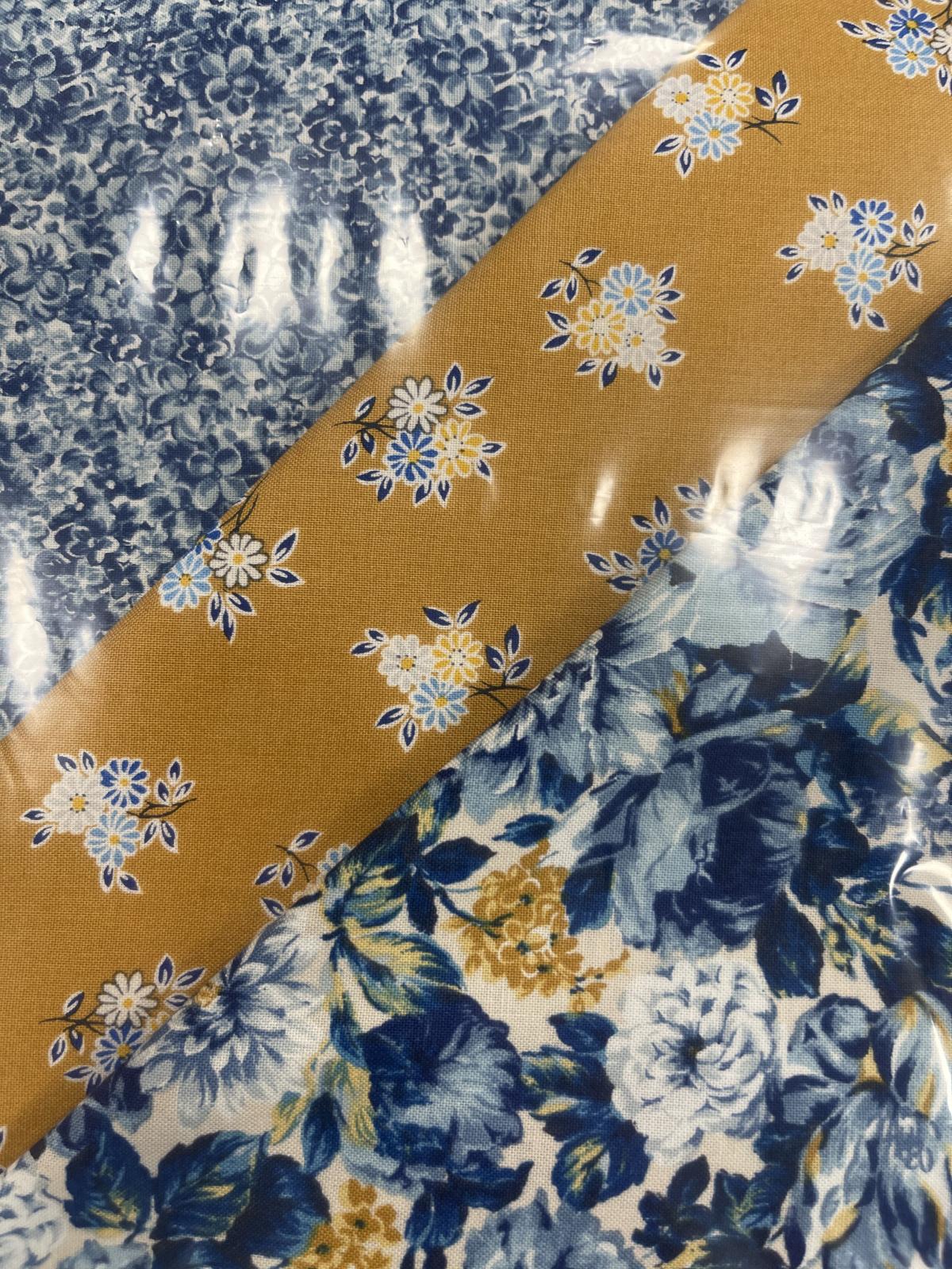Liberty Emporium 3 yard kit Blue Florals and Gold
