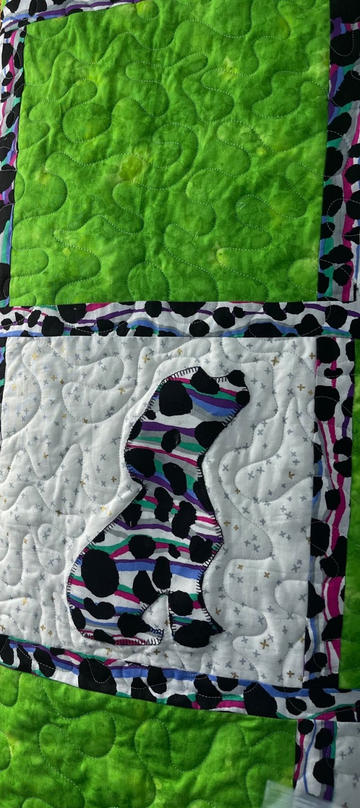 Perfect Pets Quilt 3 yd  with Kaffe Stream & Mosaic