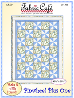 Fabric Cafe 3yd pattern Pinwheel Plus One